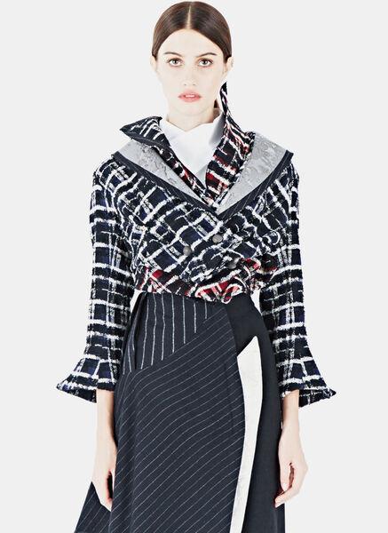 Image of Aganovich Cropped Tweed Jacket