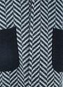 Wicker Contrast Pocket Chevron Coat