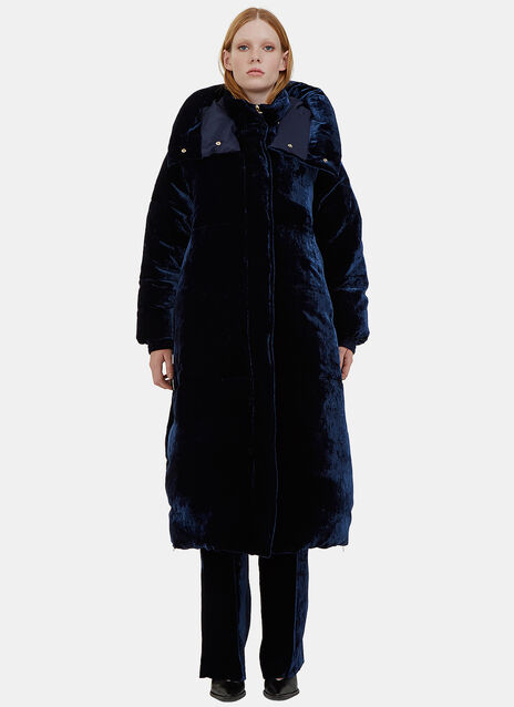 Marcelline Oversized Velvet Quilted Coat