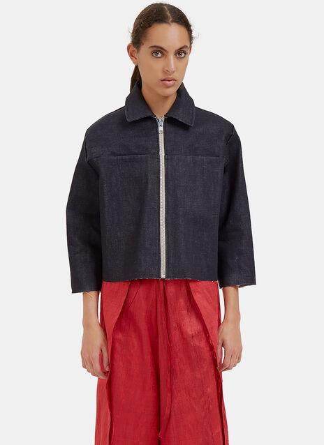 Raw-Edged Denim Jacket
