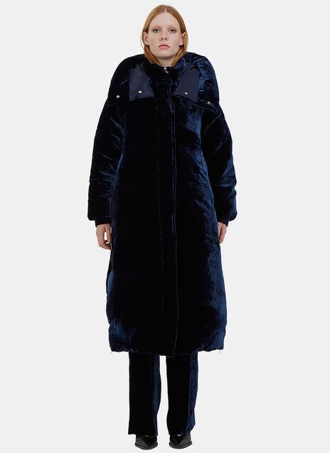 Marcelline Oversized Velvet Quilted Coat