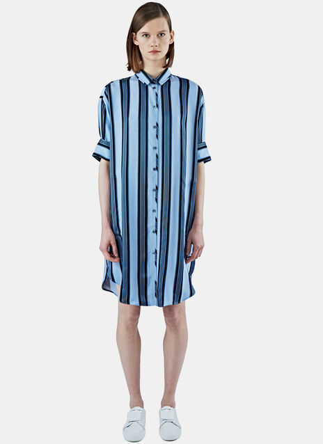 Lash Long Striped Shirt Dress