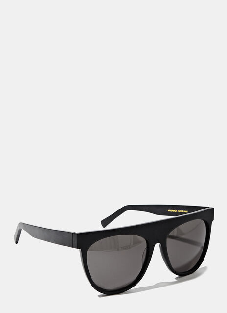 Larke Unisex Radus Matt Black Sunglasses