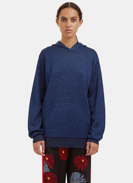 Metallic Hooded Sweater