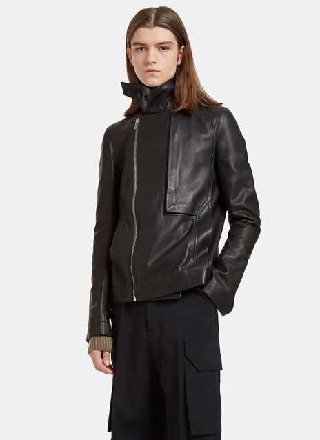 Leather Trench Bomber Jacket