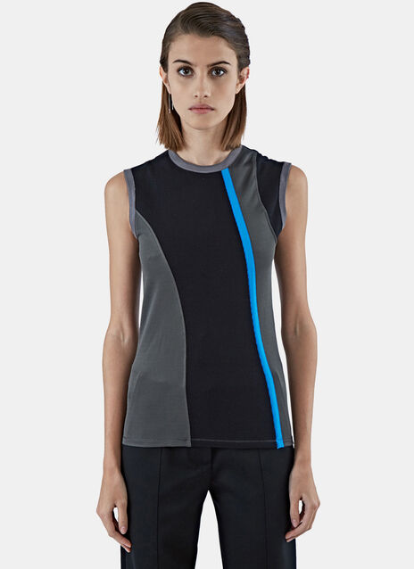 Sleeveless Jersey Mix Top