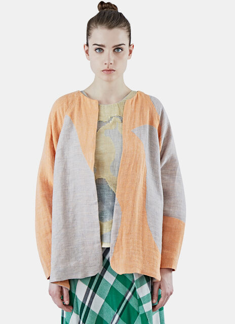 Oversized Patchwork Cardigan