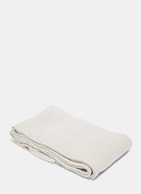 Wool Irregular Fringe Scarf