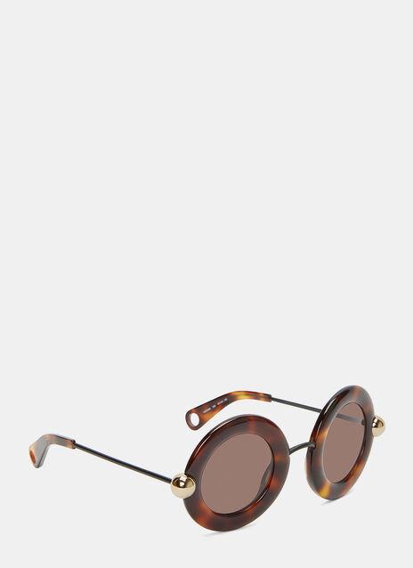 Oversized Round Tortoiseshell Sunglasses