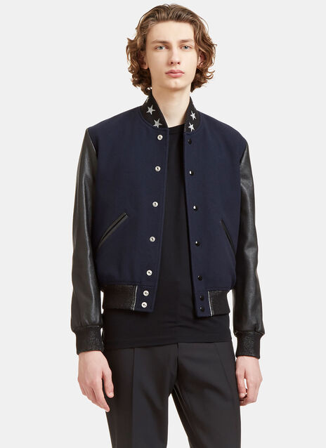 Star Collared Teddy Bomber Jacket