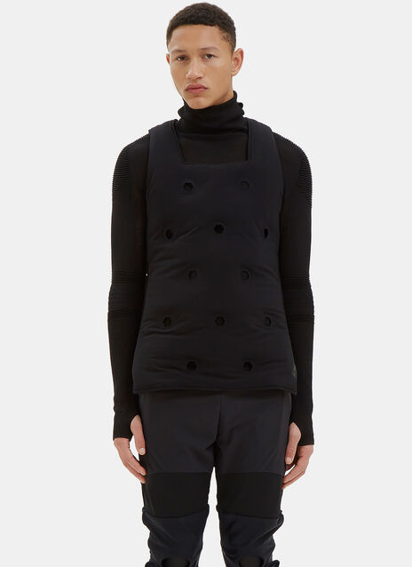 Geometric Cut-Out Padded Gilet