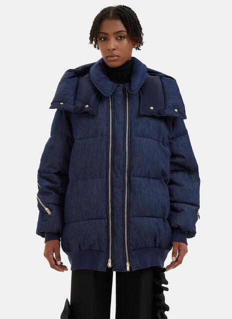 Mietta Oversized Denim Quilted Coat