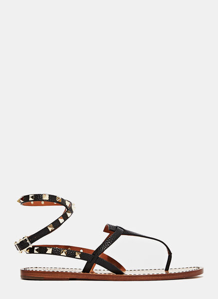 Valentino Studded Thong Sandals