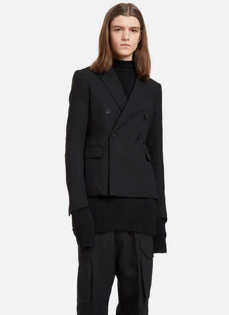 JMF Cropped Double-Breasted Jacket
