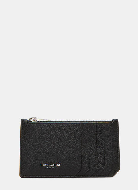 Paris Zipped Leather Card Holder