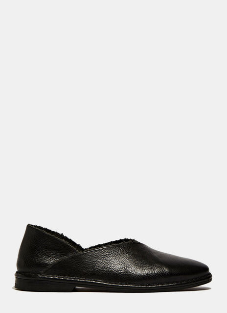 PETRUCHA STUDIO BLACK FLAT VEGAN SHOES