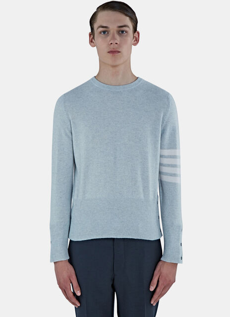 4 Bar Classic Crew Neck Cashmere Sweater