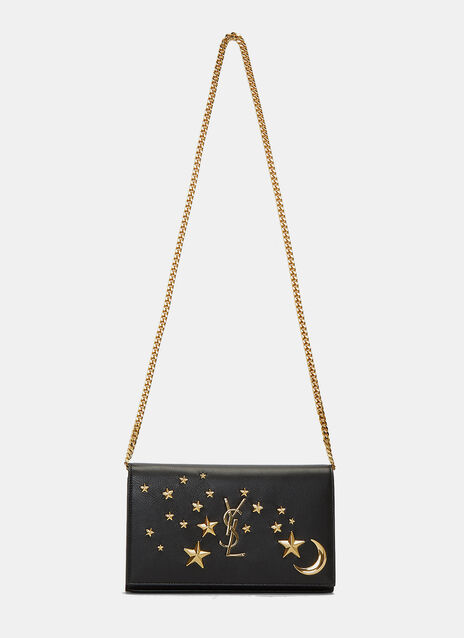 YSL Monogrammed Moons and Stars Crossbody Bag