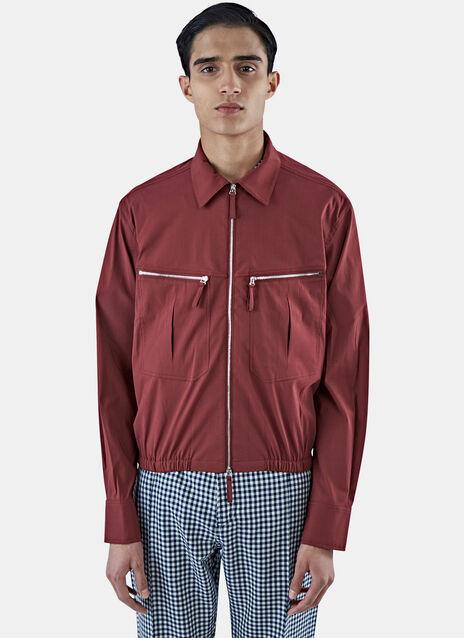 Zipped Pocket Shirt Jacket