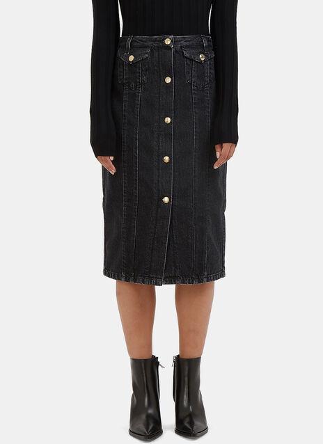 Garea Mid-Length Denim Skirt