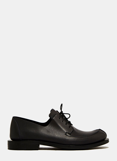 FAUVEL BLACK OUTSIDE NAVY INSIDE SHOES