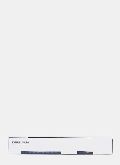 Karmuel Young 810mm Dunkelblaue Einfache Tubular Schnürsenkel