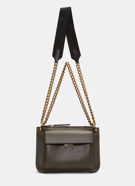 Bandoleer Pocket Crossbody Chain Bag