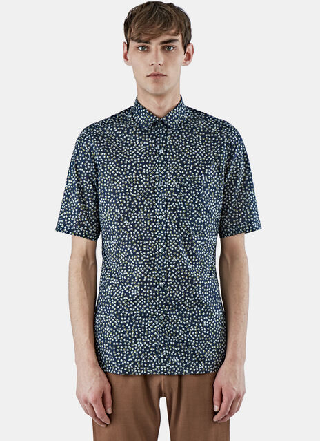 Slim fit Triangle Print Cotton Shirt
