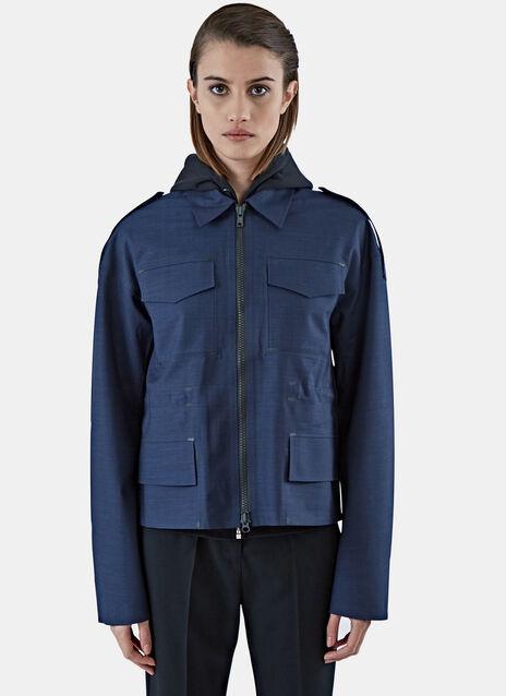 Technical Zip-Up Harrington Jacket