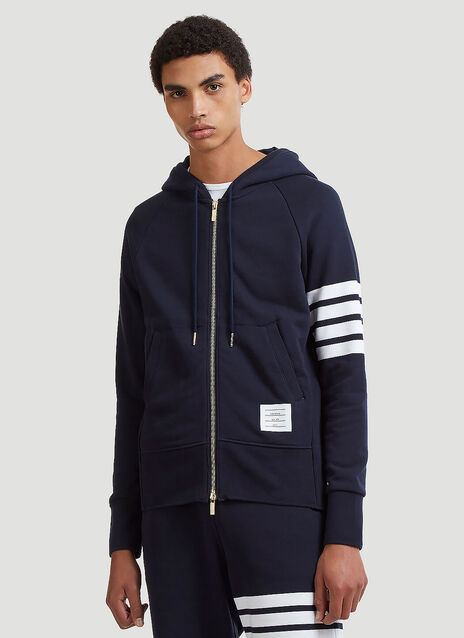 4 Bar Hooded Sweater