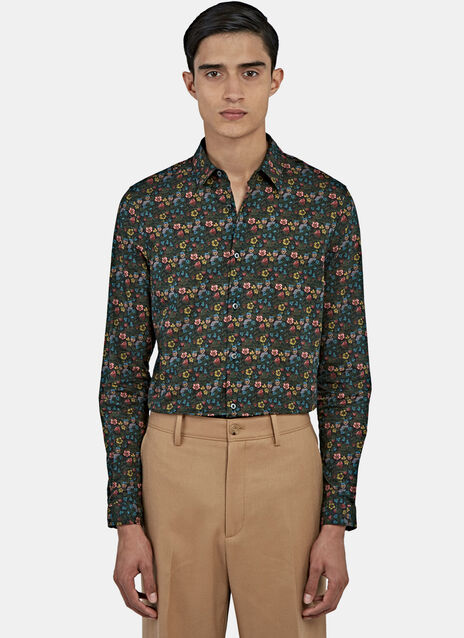 Duke Floral Print Shirt in Green