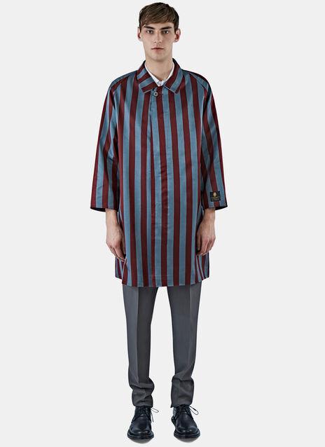Satin Striped Rain Coat