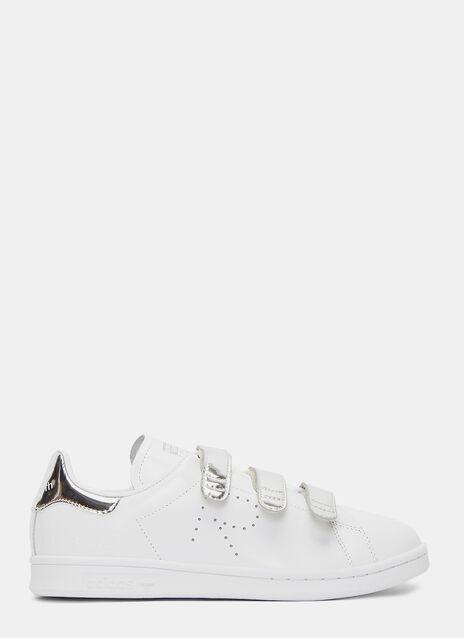 Metallic Velcro Strapped Stan Smith Comfort Sneakers