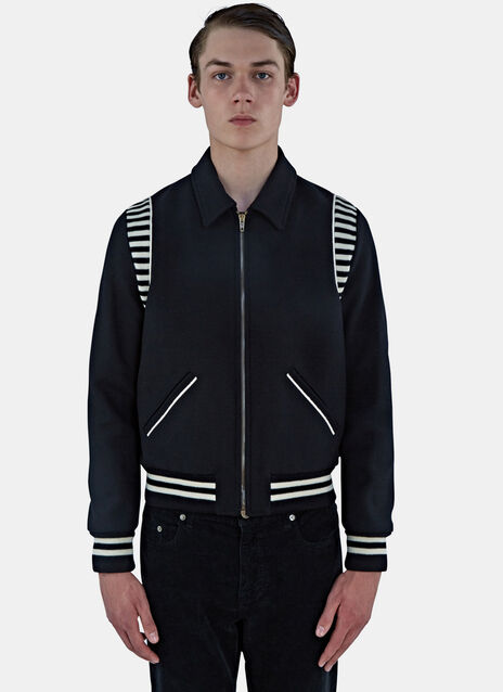 Ray Striped Teddy Jacket