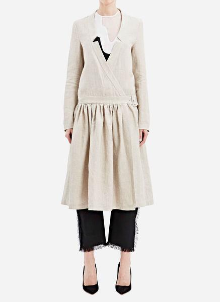 Image of Anne Sofie Madsen Long Linen Wrap Dress