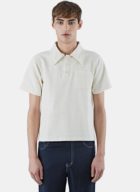 Terry Cloth Short Polo Shirt