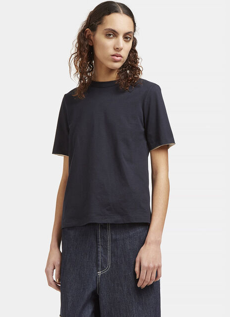 Open Back Ribbon Tied T-Shirt