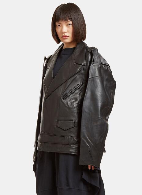 Schott Oversized Perfecto Leather Jacket