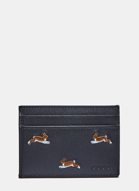 Hare Embroidered Card Case
