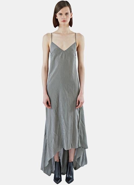 Long Gingham Checked Slip Dress