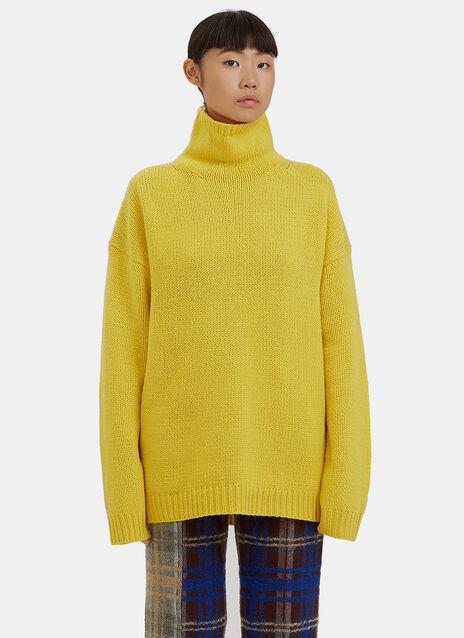 Saara Roll Neck Wool Knit Sweater
