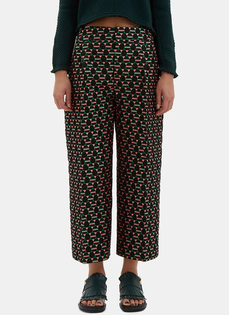 Wide Leg Jacquard Culottes