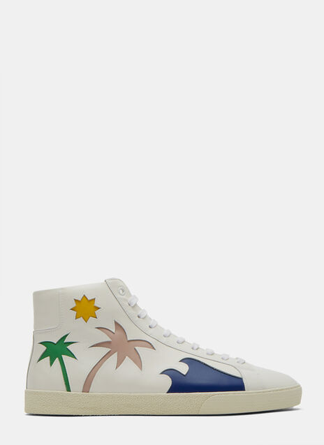 Palm Tree High-Top Sneakers