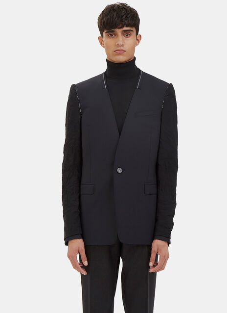 Deconstructed Inside-Out Sleeved Blazer Jacket