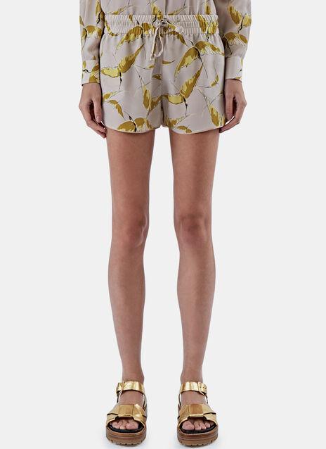 Bird Print Shorts