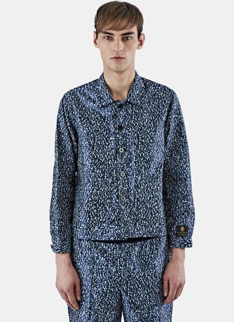 Satin Print Workman Jacket