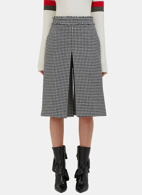 Houndstooth Box Pleat Culottes