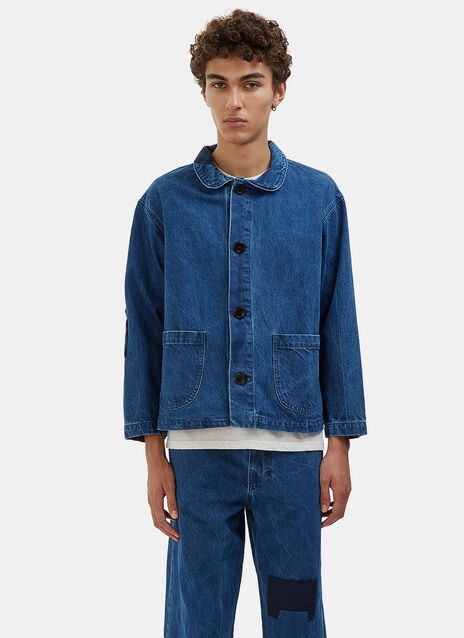 Patchwork Denim Chore Jacket