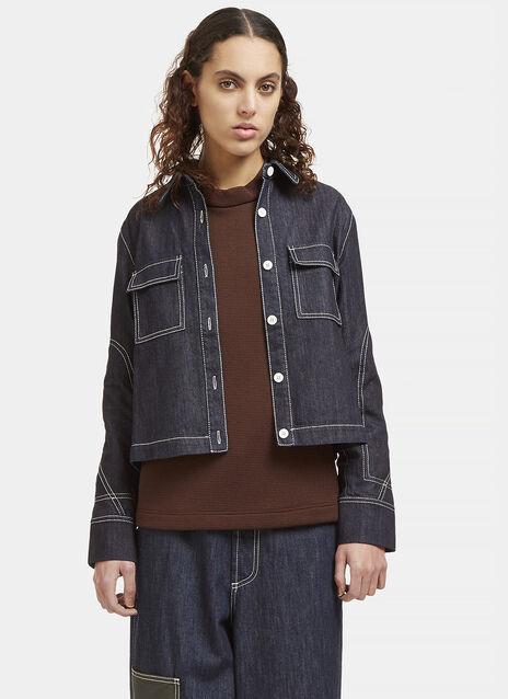 Contrast Stitched Denim Jacket