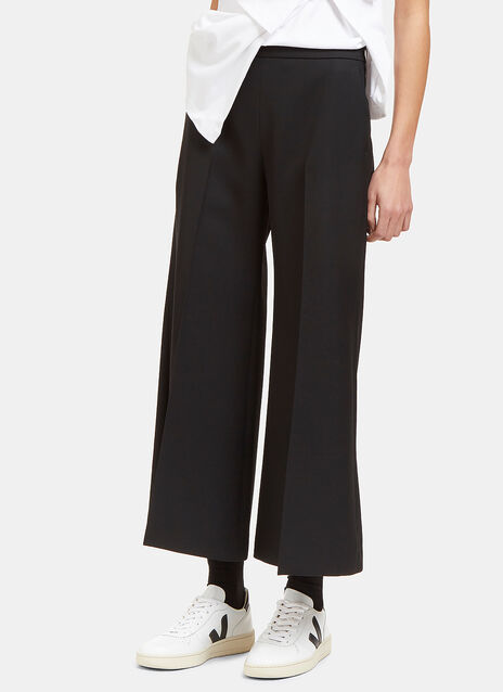 Acne Isa Flared Croppepd Pants In Black